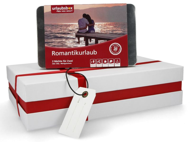 """Urlaubsbox - Kurzurlaub """"Romantik"""" für 2 Personen - Erlebnisbox"""