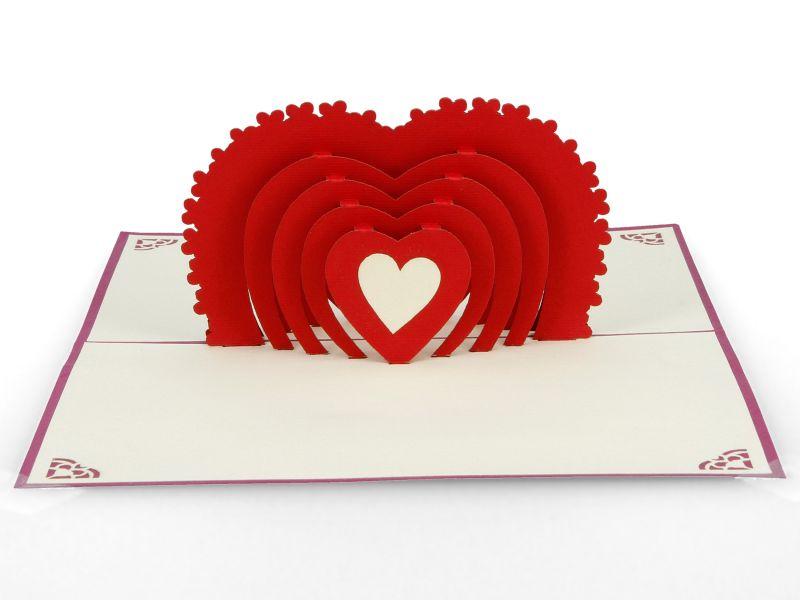 3D Pop Up Hochzeitskarte | Originelle Klapp-Karte Glückwunsch und Einladung | Mitbringsel