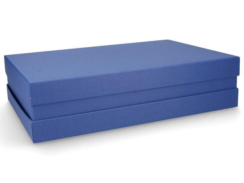 Premium-Geschenkbox - Geschenkverpackung Made in Germany (Blau) 33x8x22 cm