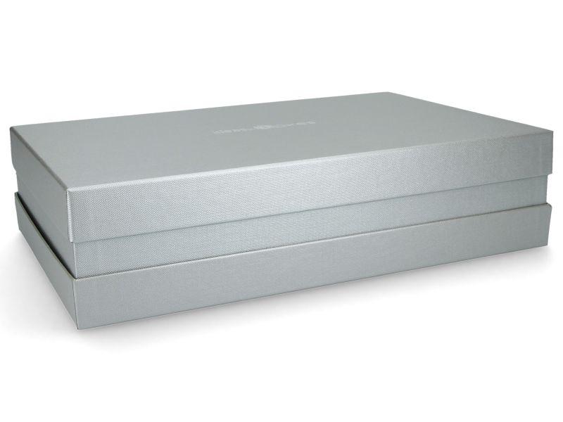 Premium-Geschenkbox - Geschenkverpackung Made in Germany (Silber) 33x8x22 cm