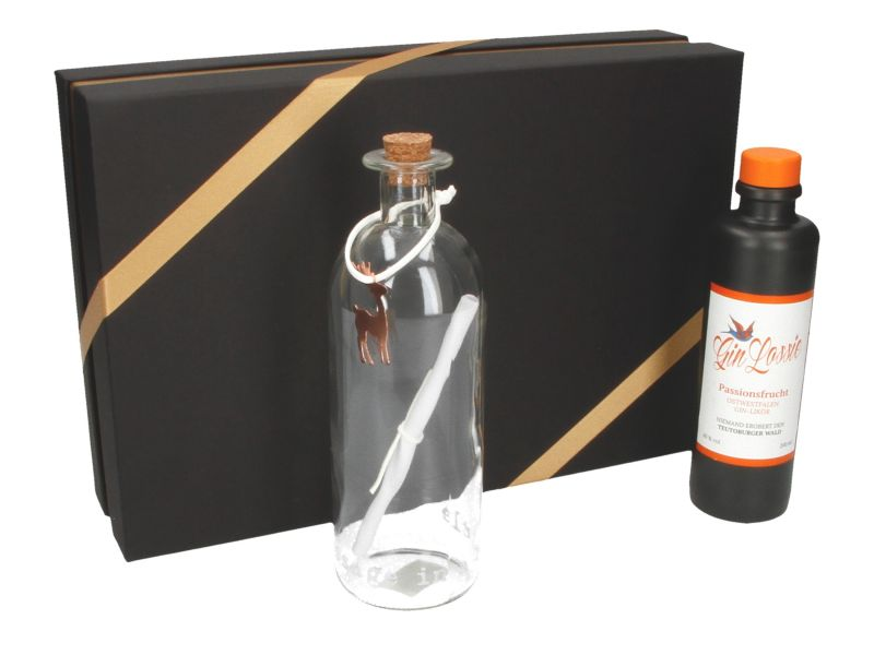 Geschenkset Gin Lossie + Message in a Bottle